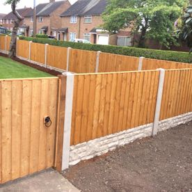 full perimeter lap panel and wood fence